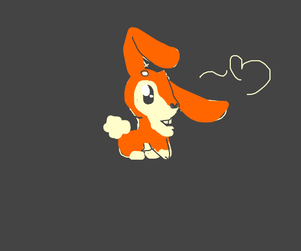 A cute fusion of a fox and a bunny