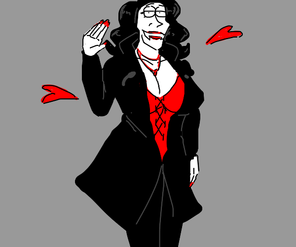 sexy tall big tiddie vampire lady