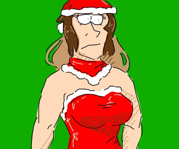 Women dressed like Santa
