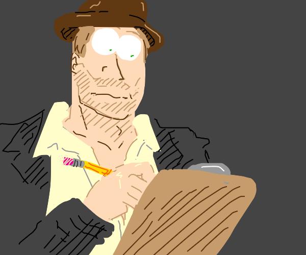 Indiana Jones Writing
