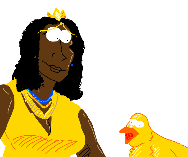 African Princess with her Duck Familiar.