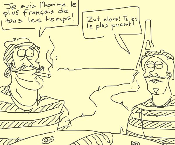 2 Frenchmen in conversation