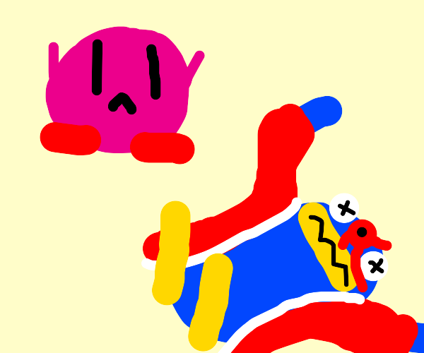 Kirby witnesses King Deedeedee die