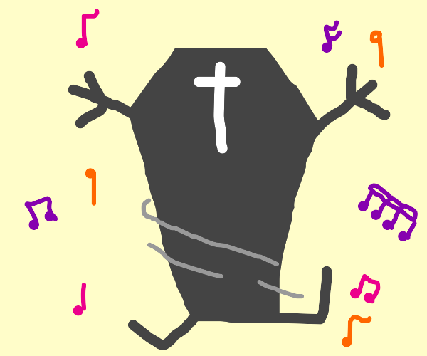 coffin that is dancing