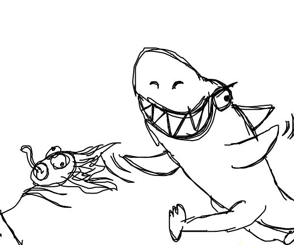 Jaws but the shark has feet