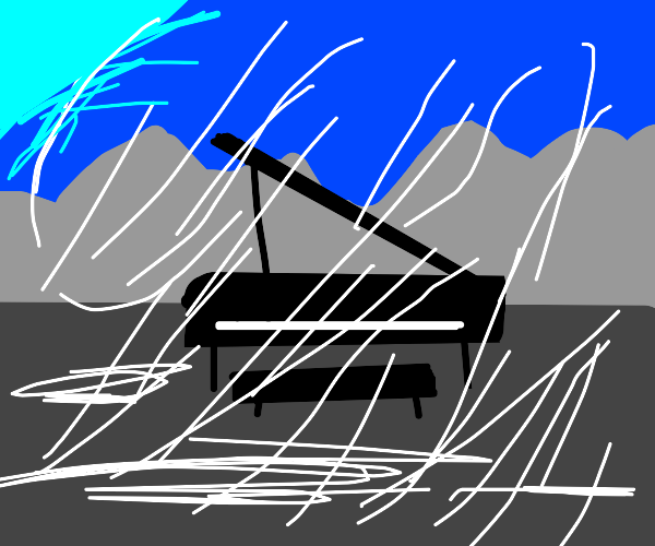 piano snowy windy
