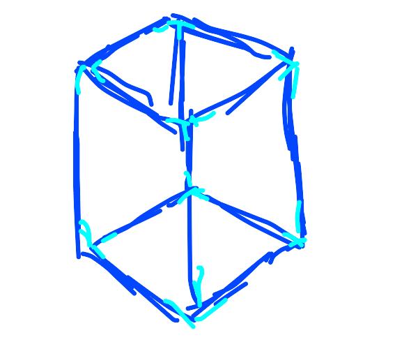 Blue 3D cube