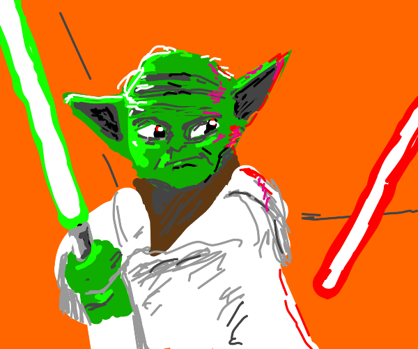 Yoda about to whoop someone's ass