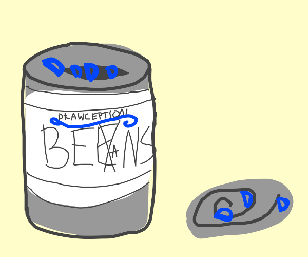 Can of Drawception beans
