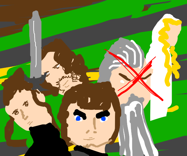 The Fellowship of the Ring, minus Gandalf