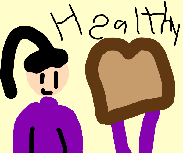 Caring about your health by eating wheat brea