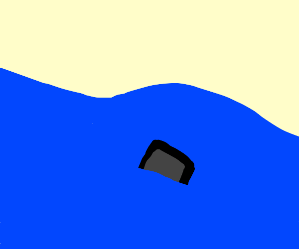 An iPod sinking into a River