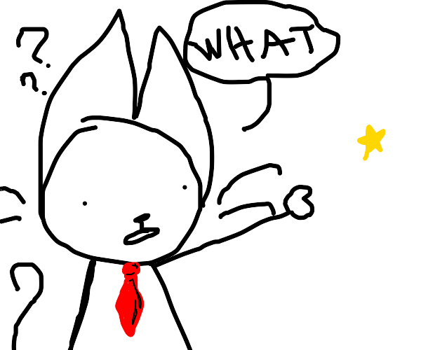 President cat points at star in confusion