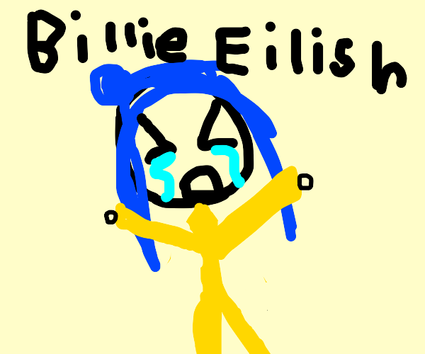 Blue Haired Girl Has A Mental Crisis