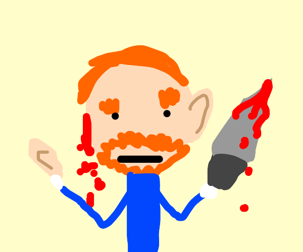 Uh oh, Van Gogh's cutting his ear off!