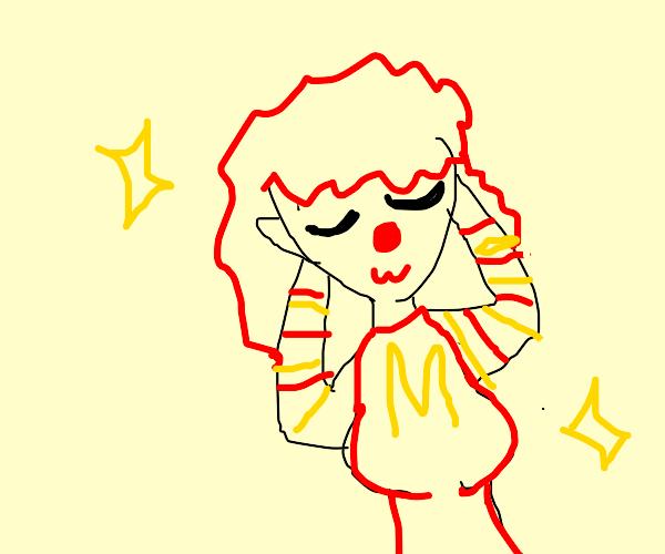 Ronald McDonald as a hot anime girl