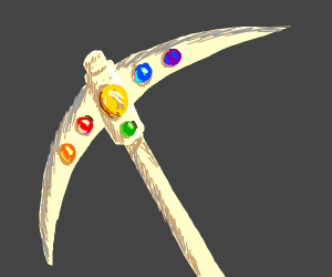 The infinity pick (infinity gauntlet pickaxe)