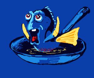 Finding Dory? More like.. Frying Dory!