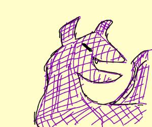 Purple Wireframe Dragon