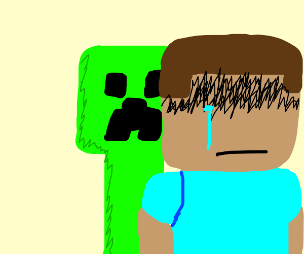 mfw I find diamond but a creeper's behind me