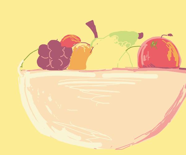 A fruit bowl