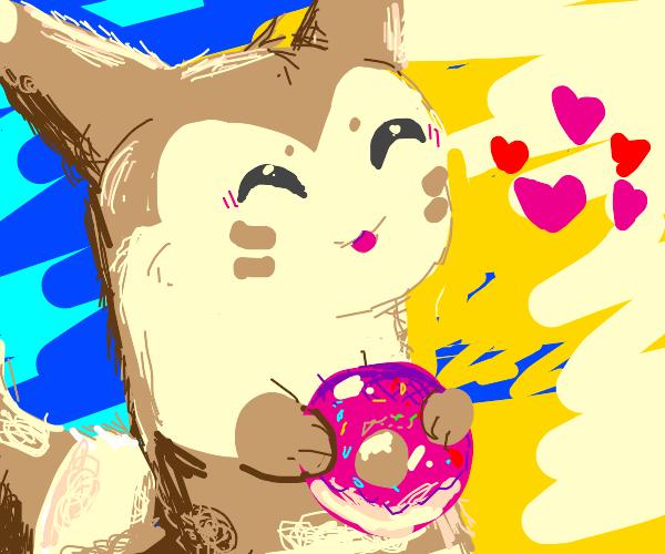 Furret loves donnut