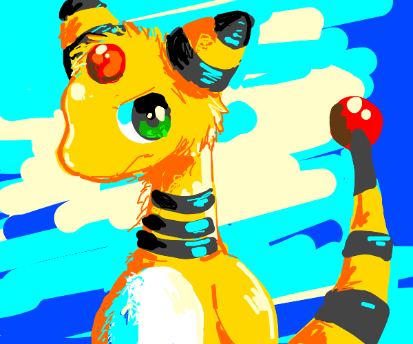 Ampharos looks annoyed at its tail