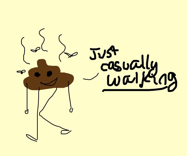 poop takes a walk