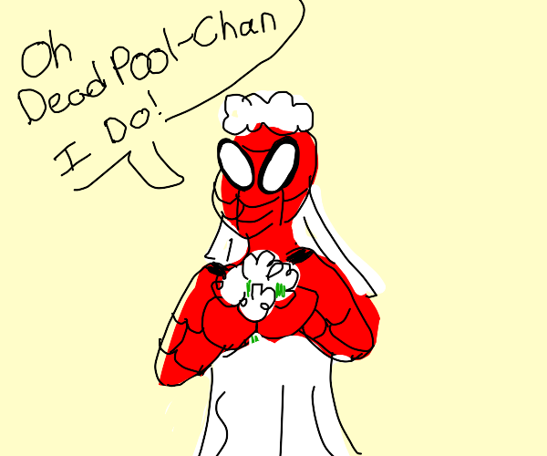 here comes Peter the bride