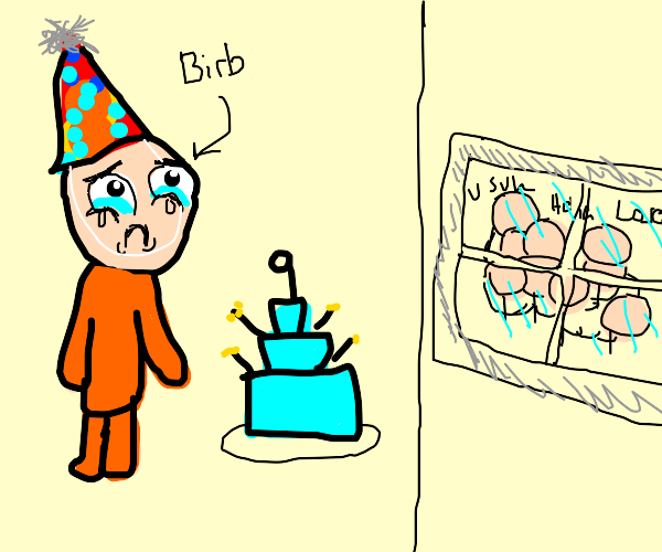 No one came to Birb's birthday party