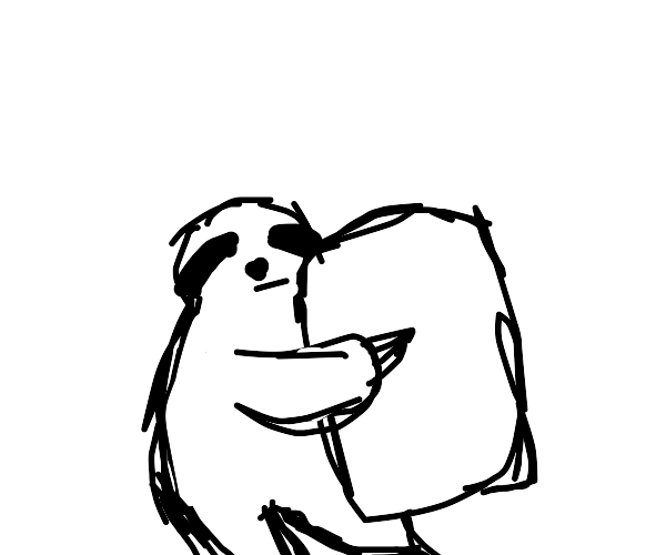 Sloth with a pillow (Aw)