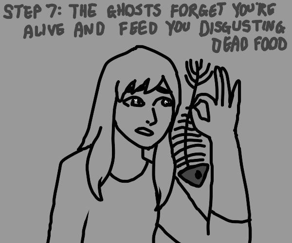 step 6: have a deathday party with the ghosts