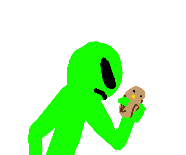 alien captures a bird
