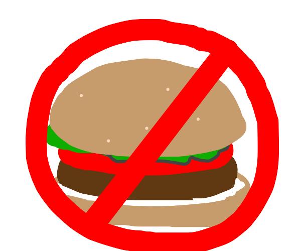 no hamburger