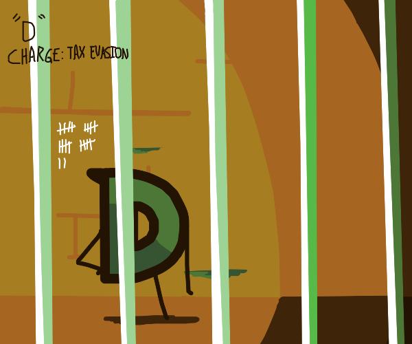 D in prison