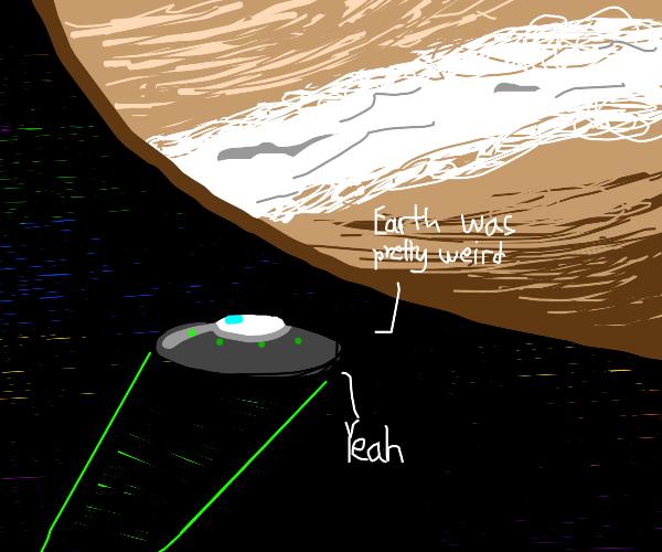 Aliens head to Jupiter