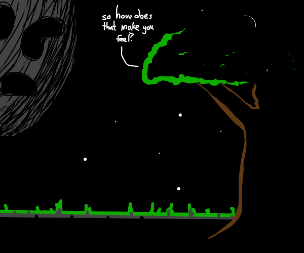 tree is a therapist for the dead