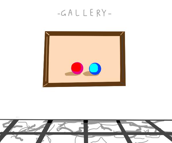 Modern art is a pair of balls (shape)