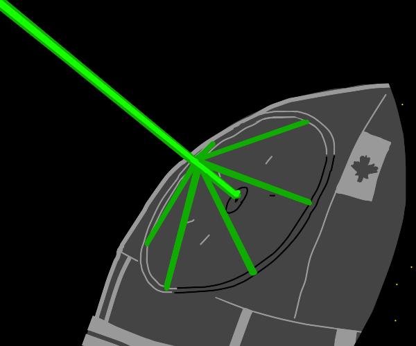Canadian Death Star fires deadly laser