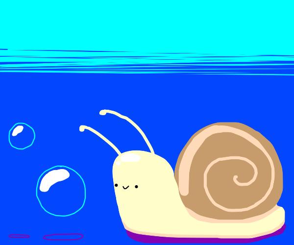 Snail likes Bubbles :)