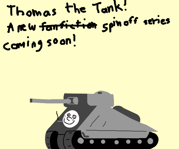 Thomas the tank(w/ has arms & legs)on crack
