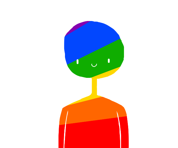 colorful sketch of guy
