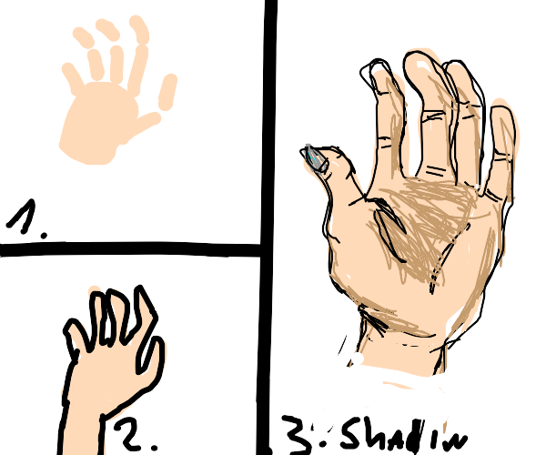 How to draw a hand - next tip