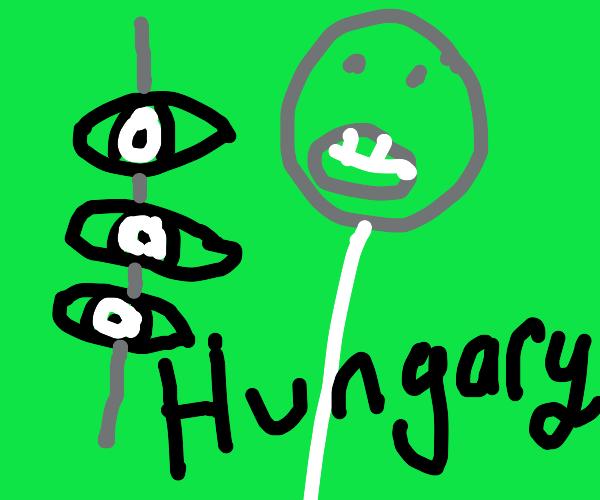 Eyeball kebabs