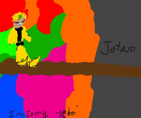 Dio's weird Walk going to Jotaro