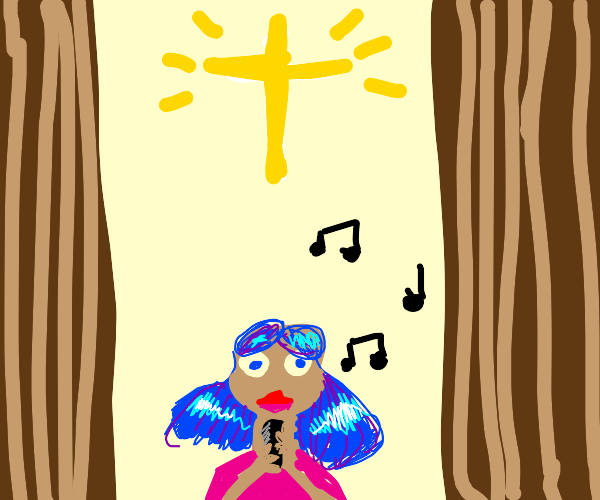 singing in a christian church