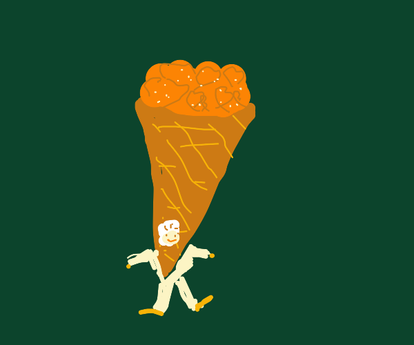guy stuck in giant strawberry ice cream
