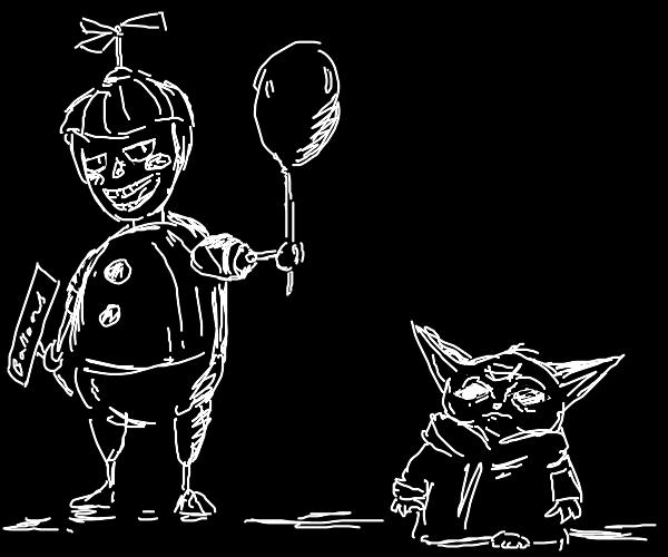Balloon boy and Yoda