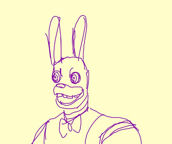 Creepy animatronic rabbit