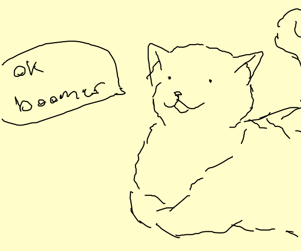 "Black Cat Says ""Ok, boomer."""